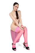 Anna Pink Nylons istripper model