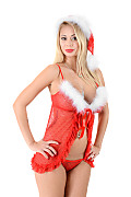 Peneloppe Ferre Santa's Surprise istripper model