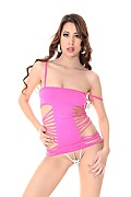 Paula Shy Slinky Dress istripper model