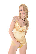 Belle Claire Golden Lust istripper model