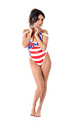 Anissa Kate Swim Team istripper model